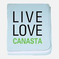 Live Love Canasta baby blanket