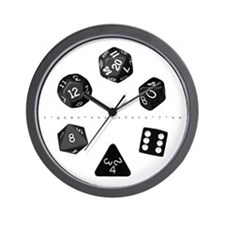 Dice Ring Wall Clock