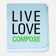 Live Love Compose baby blanket
