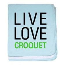 Live Love Croquet baby blanket