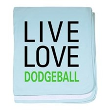 Live Love Dodgeball baby blanket