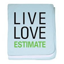 Live Love Estimate baby blanket