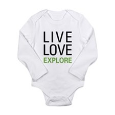 Live Love Explore Long Sleeve Infant Bodysuit