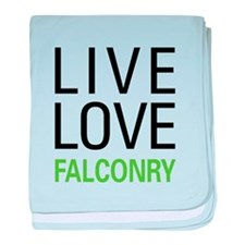 Live Love Falconry baby blanket