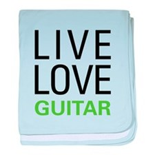 Live Love Guitar baby blanket