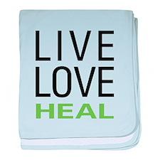 Live Love Heal baby blanket