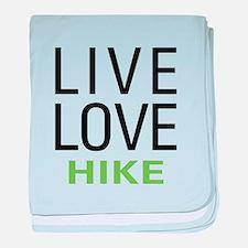 Live Love Hike baby blanket