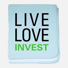 Live Love Invest baby blanket