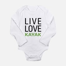 Live Love Kayak Long Sleeve Infant Bodysuit