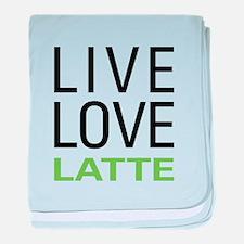 Live Love Latte baby blanket