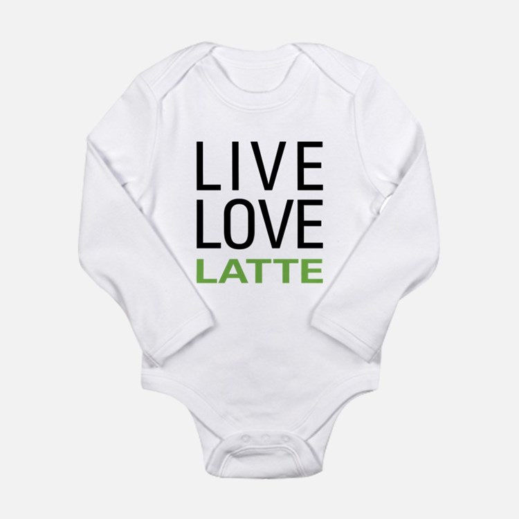 Live Love Latte Long Sleeve Infant Bodysuit