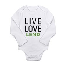 Live Love Lend Long Sleeve Infant Bodysuit