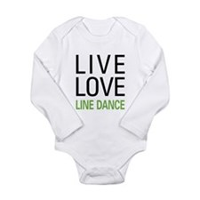 Live Love Line Dance Long Sleeve Infant Bodysuit