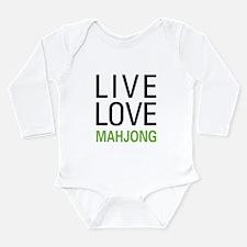 Live Love Mahjong Long Sleeve Infant Bodysuit