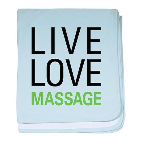 Live Love Massage baby blanket