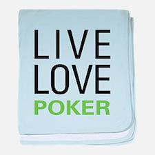 Live Love Poker baby blanket