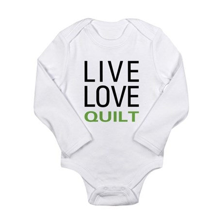 Live Love Quilt Long Sleeve Infant Bodysuit