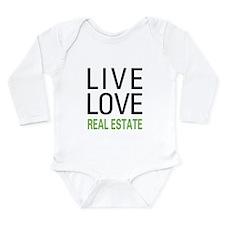 Live Love Real Estate Long Sleeve Infant Bodysuit