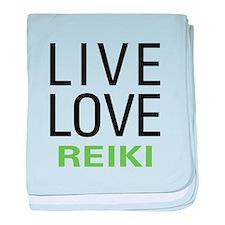 Live Love Reiki baby blanket
