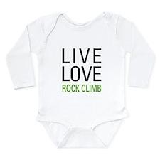 Live Love Rock Climb Long Sleeve Infant Bodysuit