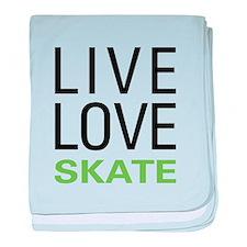 Live Love Skate baby blanket