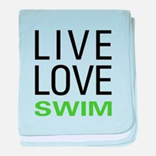 Live Love Swim baby blanket