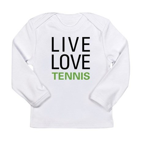 Live Love Tennis Long Sleeve Infant T-Shirt