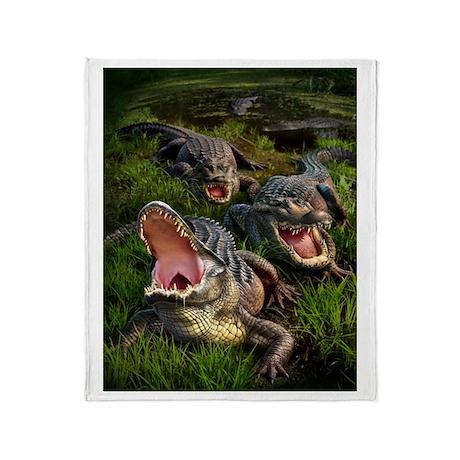 Alligators Throw Blanket