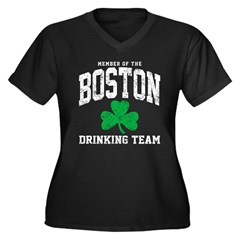 Boston Drinking Team Women's Plus Size V-Neck Dark