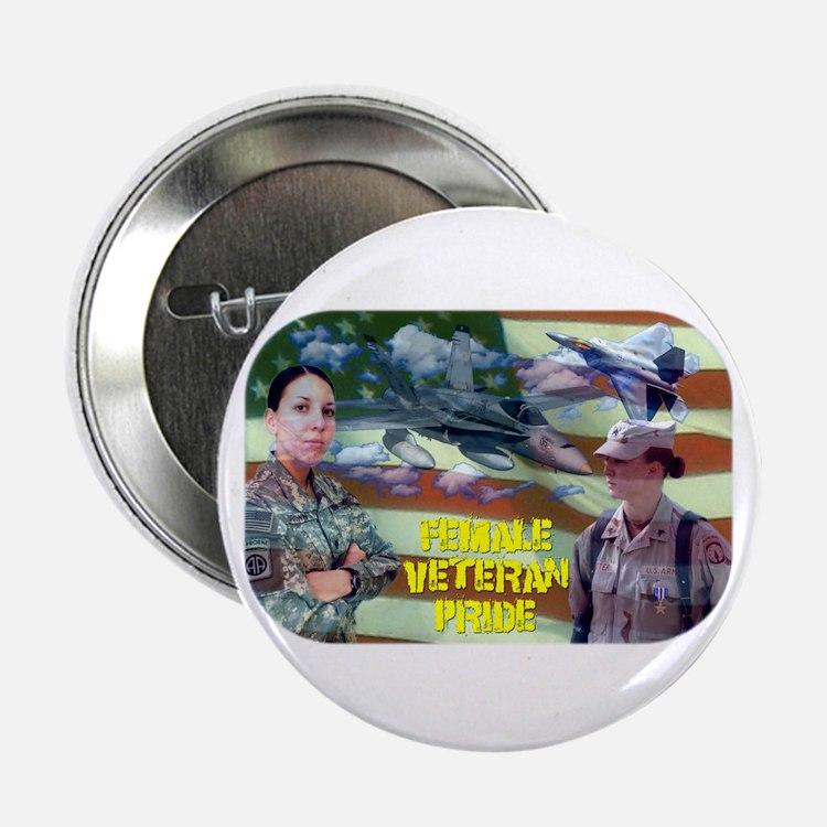 """Female Veteran Pride 2.25"""" Button"""