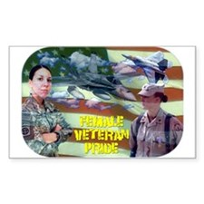 Female Veteran Pride Decal
