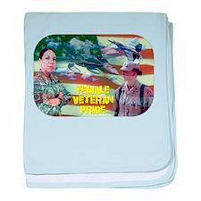 Female Veteran Pride baby blanket