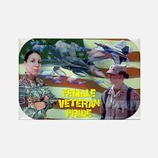 Female Veteran Pride Rectangle Magnet
