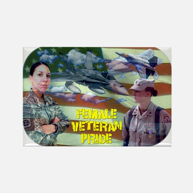 Female Veteran Pride Rectangle Magnet