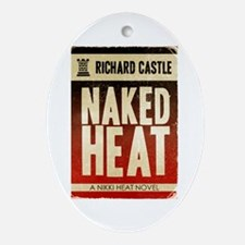 Castle Naked Heat Retro Ornament (Oval)