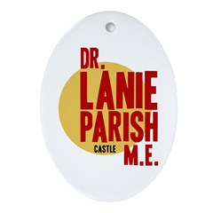 Castle Dr. Lanie Parish ME Ornament (Oval)