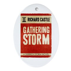 Retro Castle Gathering Storm Ornament (Oval)