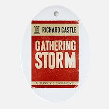 Retro Castle Gathering Storm Ornament (Oval)
