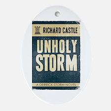 Retro Castle Unholy Storm Ornament (Oval)
