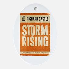 Retro Castle Storm Rising Ornament (Oval)