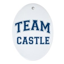 Team Castle Ornament (Oval)