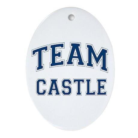 Team Castle Ornament (Oval)