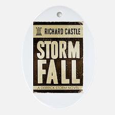 Retro Castle Storm Fall Ornament (Oval)