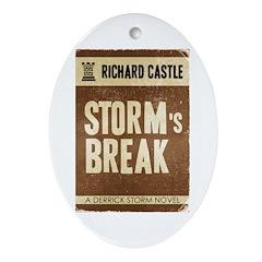 Retro Castle Storm's Break Ornament (Oval)