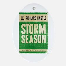 Retro Castle Storm Season Ornament (Oval)