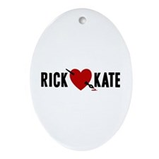 Castle Rick Heart Kate Ornament (Oval)