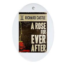 Retro Castle Rose For Everafter Ornament (Oval)