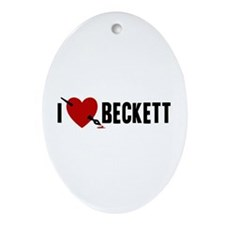 I Love Beckett Ornament (Oval)