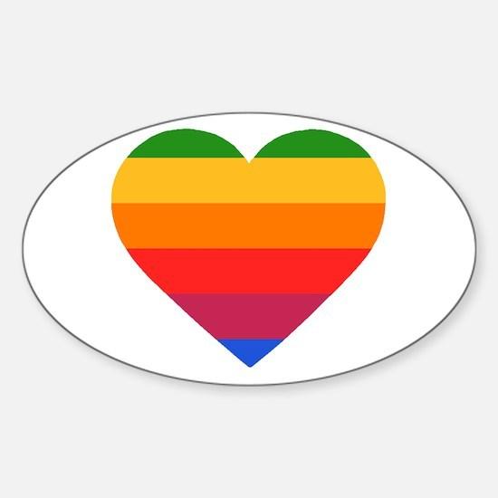 Apple Mac Heart Sticker (Oval)