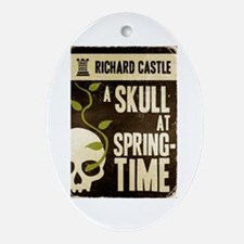 Castle A Skull At Springtime Ornament (Oval)